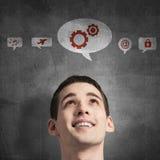 Ícones da aplicação da relação dos meios Imagens de Stock Royalty Free