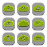 Ícones da aplicação e coleção dos logotipos do App ilustração stock