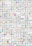 Ícones da aplicação web Imagens de Stock Royalty Free