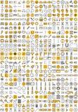 Ícones da aplicação web Imagens de Stock