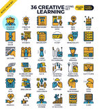 Ícones da aprendizagem criativa Foto de Stock