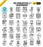 Ícones da aprendizagem criativa Imagem de Stock Royalty Free
