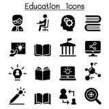 Ícones da aprendizagem & da educação ilustração royalty free