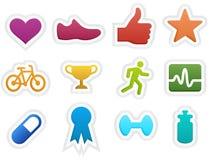 Ícones da aptidão Imagem de Stock