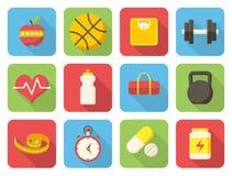 Ícones da aptidão Foto de Stock