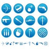 Ícones da arma Imagens de Stock Royalty Free