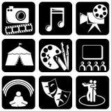 Ícones da arte Imagem de Stock