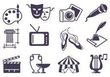 Ícones da arte Imagem de Stock Royalty Free