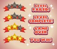 Ícones da avaliação do jogo ilustração royalty free