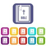 Ícones da Bíblia ajustados ilustração do vetor