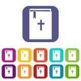 Ícones da Bíblia ajustados ilustração royalty free