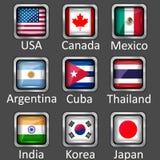 Ícones da bandeira Fotos de Stock Royalty Free