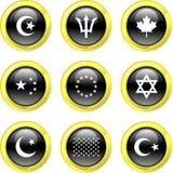 Ícones da bandeira ilustração royalty free