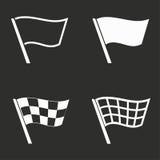 Ícones da bandeira ajustados Fotos de Stock Royalty Free
