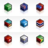 Ícones da bandeira ajustados - elementos 56t do projeto Fotografia de Stock