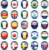 Ícones da bandeira de país ilustração do vetor