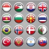 Ícones da bandeira do mundo Imagem de Stock Royalty Free