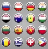 Ícones da bandeira do mundo Foto de Stock Royalty Free
