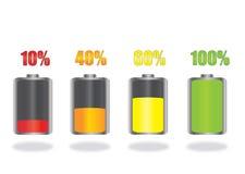 Ícones da bateria Fotografia de Stock