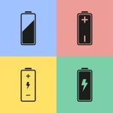 Ícones da bateria Imagem de Stock