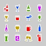 Ícones da bebida Fotos de Stock Royalty Free