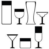 Ícones da bebida Fotografia de Stock