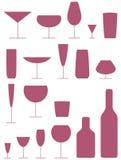 Ícones da bebida Imagem de Stock