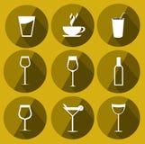 Ícones da bebida ilustração royalty free