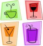 Ícones da bebida ilustração do vetor