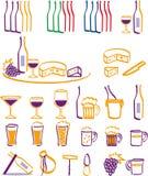 Ícones da bebida & do alimento Fotos de Stock