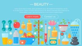 Ícones da beleza e da compra do conceito Beleza, compra, projeto do molde do infographics do conceito da forma, ícones do encabeç ilustração stock