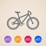 Ícones da bicicleta Imagem de Stock