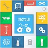 Ícones da bicicleta Fotos de Stock Royalty Free
