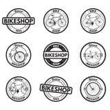 Ícones da bicicleta Imagem de Stock Royalty Free