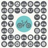 Ícones da bicicleta ajustados fotografia de stock royalty free