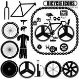 Ícones da bicicleta da velocidade ilustração stock