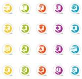 Ícones da bolha do pensamento (vetor) Fotos de Stock Royalty Free