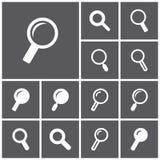 Ícones da busca Imagem de Stock Royalty Free