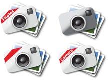 Ícones da câmera Fotografia de Stock Royalty Free