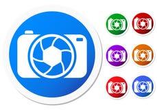 Ícones da câmera Imagens de Stock Royalty Free