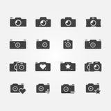 Ícones da câmera ajustados Imagem de Stock