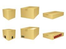 Ícones da caixa de cartão ilustração stock