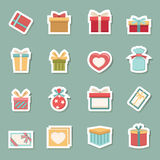 Ícones da caixa de presente Imagens de Stock Royalty Free