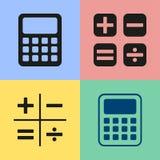 Ícones da calculadora Imagem de Stock Royalty Free