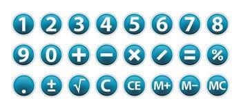 Ícones da calculadora Fotos de Stock