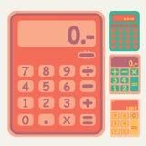 Ícones da calculadora das ferramentas ajustados Imagem de Stock Royalty Free