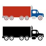 Ícones da carga do caminhão Imagens de Stock