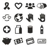 Ícones da caridade Imagens de Stock