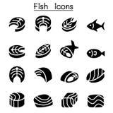 Ícones da carne de peixes ilustração do vetor