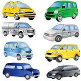 Ícones da carrinha ajustados Imagens de Stock Royalty Free